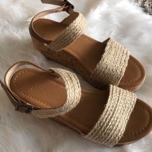 Charlotte Russe nude flatform sandals